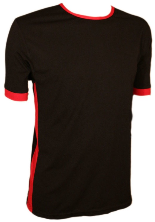 Bars Mens T-Shirt Black/Red 167 S
