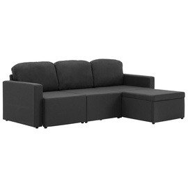 Dīvāngulta VLX Triple Modular Sofa Bed 288784, melna, 76 x 184 x 82.5 cm