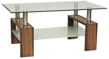 Kafijas galdiņš Signal Meble Lisa II Walnut, 1100x600x550 mm