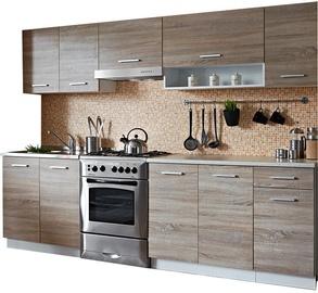 Virtuves komplekts Stolarz-Lempert Cyra Oak/White, 2.5 m