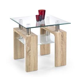 Kafijas galdiņš Halmar Diana H Kwadrat Sonoma Oak, 600x600x550 mm
