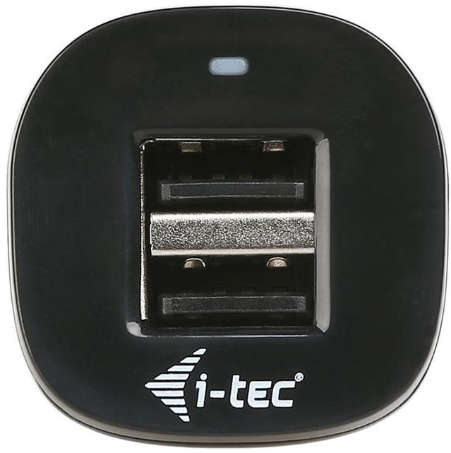 i-Tec Dual USB High Power Car Charger Black
