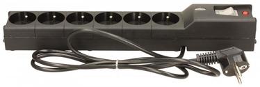 Sprieguma stabilizatori (Surge Protector) Lestar Surge Protector 6 Outlet Black 1.5m