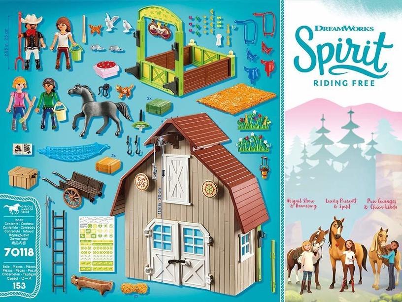 Конструктор Playmobil Spirit Riding Free Barn With Lucky Pru & Abigail 70118