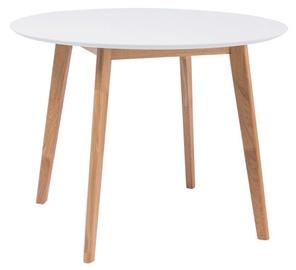 Обеденный стол Signal Meble Mosso II Oak/White, 900x900x750 мм