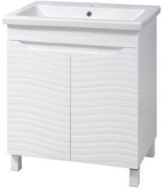 Шкаф для ванной Sanservis Atlanta-60 Cabinet with Basin Como-60 White 56.5x80x43cm