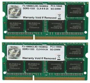 Operatīvā atmiņa (RAM) G.SKILL F3-10666CL9D-8GBSQ DDR3 8 GB CL9 1333 MHz