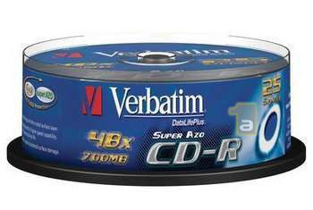 Verbatim CD-R/DLP/->48X/25-SPINDLE