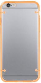 Mocco Frame Plastic Back Case For Huawei P8 Transparent/Orange