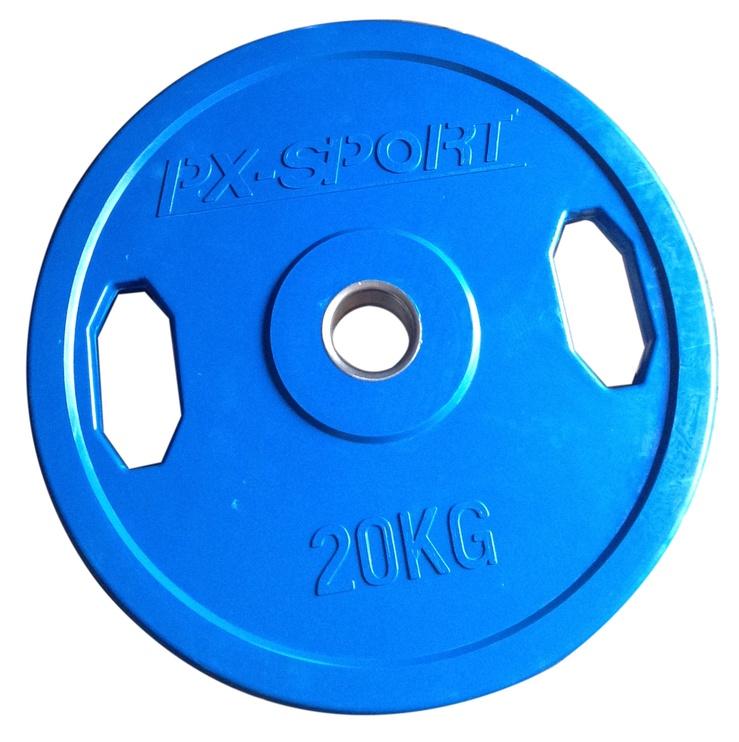 PX Sport Weight Disc Blue Rubber 20kg