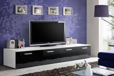 ТВ стол ASM Duo, белый/черный, 2000x450x350 мм