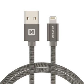 Swissten Textile USB To Apple Lighting Fast Charge Cable 2m Grey