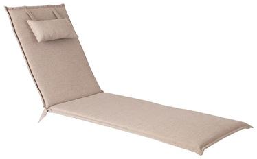 Home4you Wicker Deck Chair Pad 55x195x3cm Beige