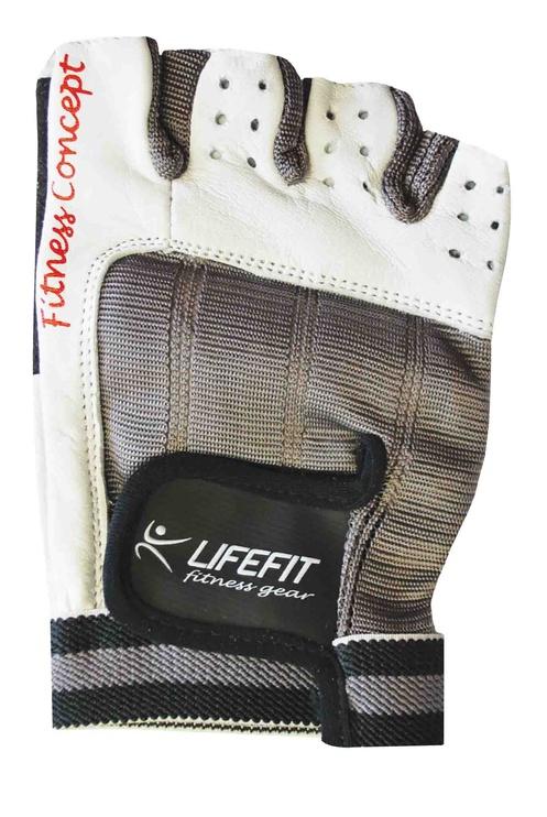 Lifefit Pro Athletic Gloves M White/Grey