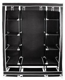 Гардероб Iso Trade, черный, 145 см x 45 см x 175 см