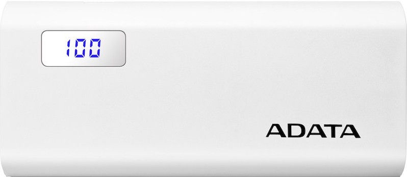 Ārējs akumulators ADATA P12500D White, 12500 mAh
