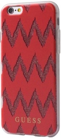 Guess Chevron 3D Effect Back Case For Apple iPhone 6/6s Red