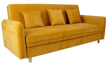 Диван-кровать Home4you Hetty 11404, желтый, 90 x 217 x 90 см