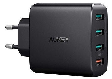 Aukey Quick Charge 3.0 4x USB Wall Charger Black