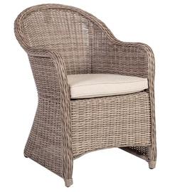 Dārza krēsls Home4you Toscana, smilškrāsas, 60x69x86 cm