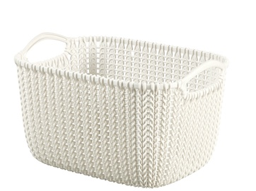 Curver Knit L Rectangular Basket White
