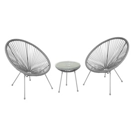 Home4you Como Balcony Furniture Set Grey