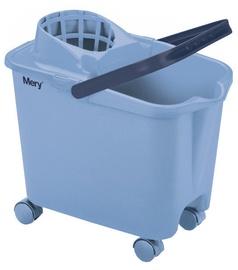 Mery Cleaning Bucket On Wheels 14L Blue