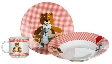 Komplekts Banquet Teddy Bear Childrens Dinner Set