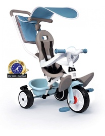 Трехколесный велосипед Smoby Triciclo baby Balade, белый/серый/голубой