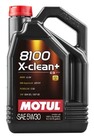 Машинное масло Motul 8100 X-Clean 5W - 30, синтетический, для легкового автомобиля, 5 л
