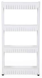Songmics Kitchen Storage Rack 54.5x102.5x12.7cm White