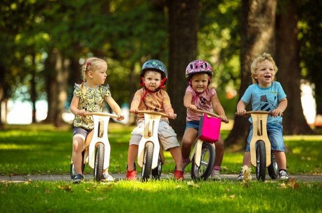 """Līdzsvara velosipēds MGS FACTORY DipDap Mini 4751025130116, dzeltena/smilškrāsas, 10"""""""