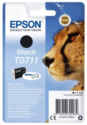 Epson Cartridge 7.4ml Black