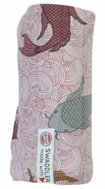 Lodger Swaddler Empire Fish 120x120cm Nocture