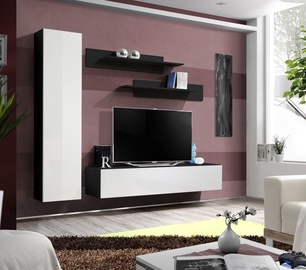 Dzīvojamās istabas mēbeļu komplekts ASM Fly G Black/White Gloss