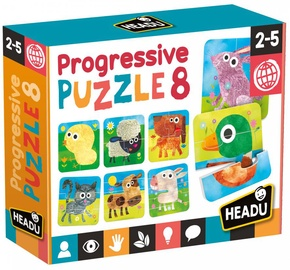 Пазл Headu Progressive Puzzle 8, 28 шт.