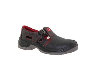 SN SA003 S1P Working Sandals 46 Black