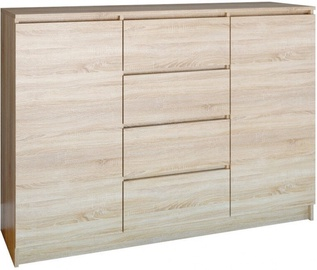 Top E Shop Chest of 2 Doors 4 Drawers Sonoma