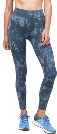 Audimas Printed Functional Tights Dusk Blue L