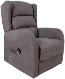 Atzveltnes krēsls Home4you Barry 13847, pelēka, 77x90x106 cm