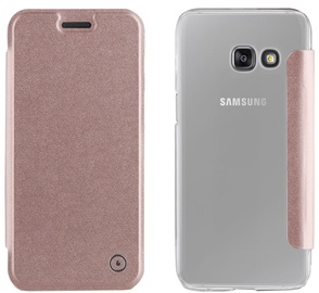 Muvit Folio Cover For Samsung Galaxy A3 A320 Rose Gold
