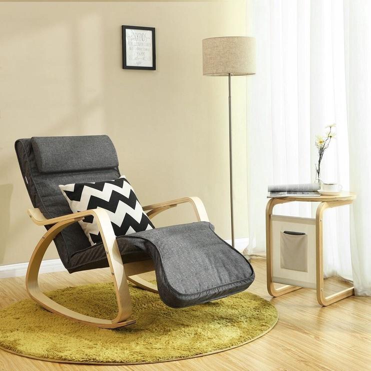 Atzveltnes krēsls Songmics, pelēka, 67x50x91 cm