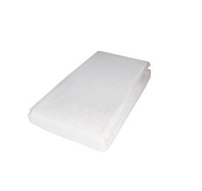 Palags Domoletti Satin White, 180x200 cm, ar gumiju