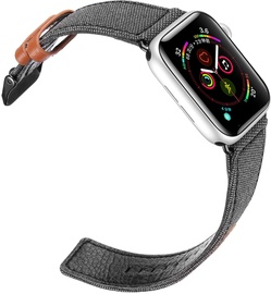 Dux Ducis Canvas Leather Band For Apple Watch 42/44mm Black/Brown