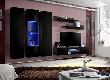 Dzīvojamās istabas mēbeļu komplekts ASM Fly P5 Black