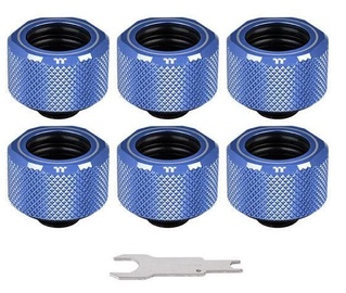 Thermaltake Pacific C-PRO G1/4 PETG Tube 16mm OD Compression 6-Pack Blue