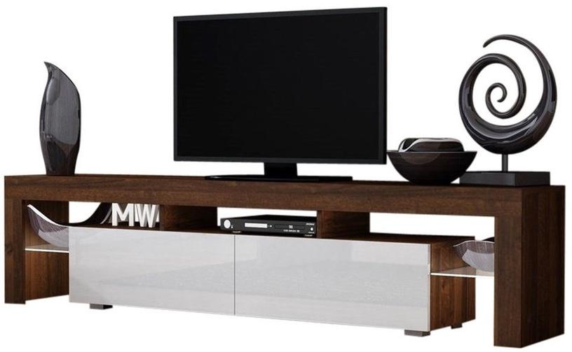 ТВ стол Pro Meble Milano 200 With Light Walnut/White, 2000x350x450 мм