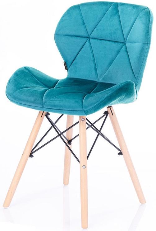 Ēdamistabas krēsls Homede Silla Velvet Blue, 4 gab.