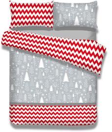 AmeliaHome Snuggy Christmas Mess Bedding Set 155x220 2pcs/80x80 2pcs
