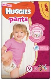 Autiņbiksītes Huggies Pants Girls, 6, 30 gab.